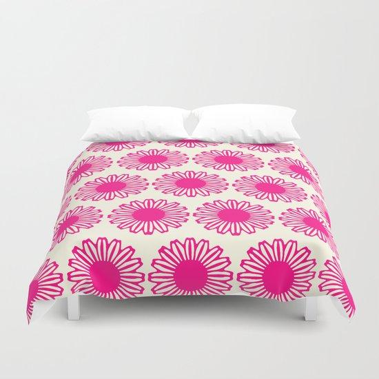 Vintage Flower_Pink Duvet Cover