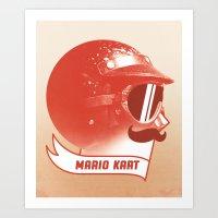 Mario Kart Art Print