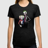 Suicide Nightmare Squad Fine Art Print Womens Fitted Tee Tri-Black SMALL