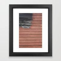 Red vs. Black Framed Art Print
