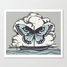 Butterfly Boat - We Are Not Troubled Guests Canvas Print