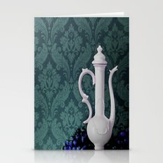 Decanter And Grapes Stationery Cards