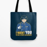 I Want You to be a State Alchemist Tote Bag