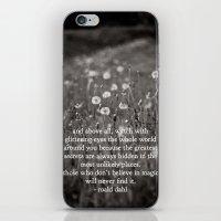 roald dahl's magic iPhone & iPod Skin