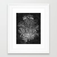 Newer Every Day Framed Art Print