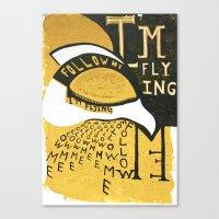 Follow Bird Canvas Print