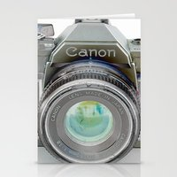 Old Canon AE-1 Camera Stationery Cards
