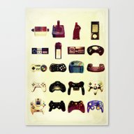 Canvas Print featuring Game On  by Rubbishmonkey