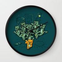 Zombie Cats Wall Clock