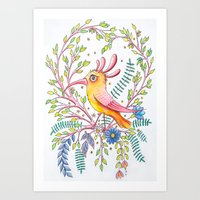 serious bird Art Print