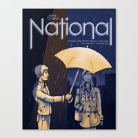 The National Band Poster… Canvas Print
