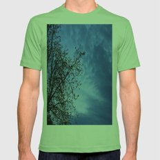 Here Comes the Night Mens Fitted Tee Grass SMALL