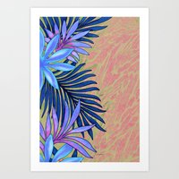 A Run Through the Jungle Blues Art Print