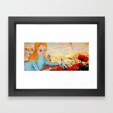 I've met a Blue Bird today Framed Art Print