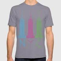 NYC Mens Fitted Tee Slate SMALL