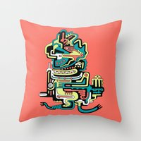 Geometric Beings Made Of… Throw Pillow