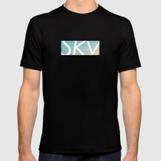 Sky Mens Fitted Tee Black SMALL