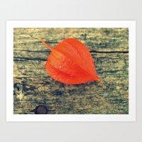 Orange Fall Art Print