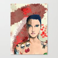 Tattoo Kid Canvas Print