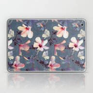 Butterflies And Hibiscus… Laptop & iPad Skin