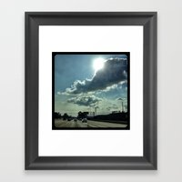 Admiring The Clouds. Framed Art Print