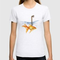 periscope goldfish Womens Fitted Tee Ash Grey SMALL