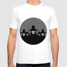Million Mask March SMALL White Mens Fitted Tee