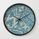 Tribal (blue)  Wall Clock