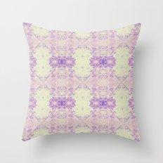 Fuzzy kaleidoscope Throw Pillow