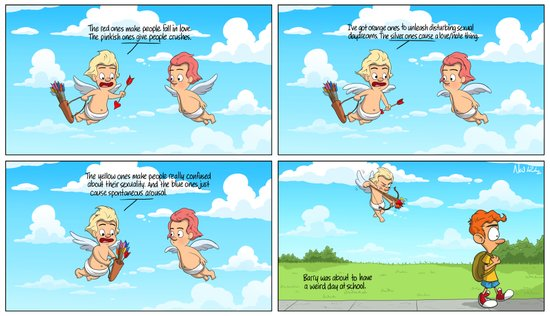 Cupid's Arrows Art Print