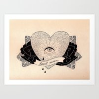Heart Queen Art Print
