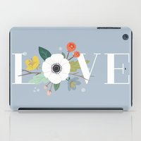 Floral Love - in Dusty Blue iPad Case