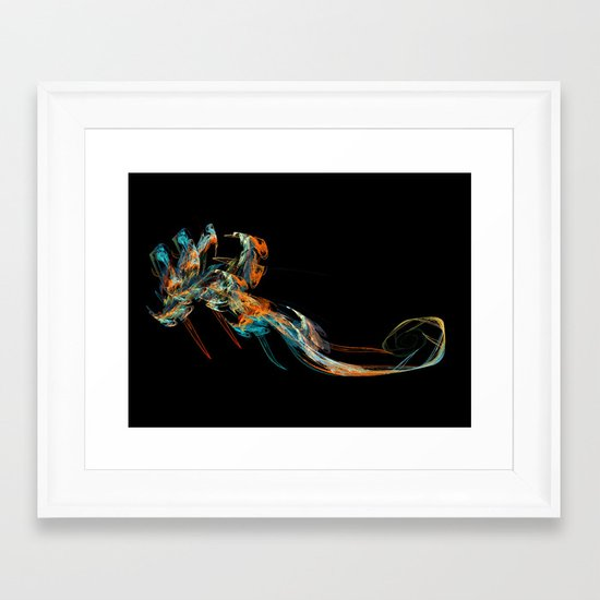 Deep Sea; the Visitor Framed Art Print