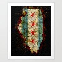 chicago Art Prints featuring Chicago by Tim Jarosz