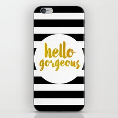 Hello Gorgeous 02 iPhone & iPod Skin