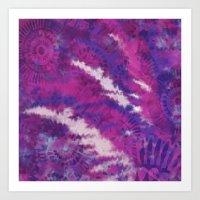 Pink and Purple Floral print Art Print