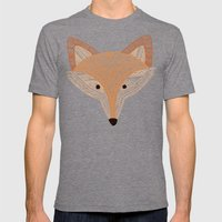 Golden Fox  Mens Fitted Tee Tri-Grey SMALL