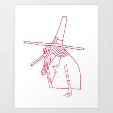 Happy Pilgrim Art Print