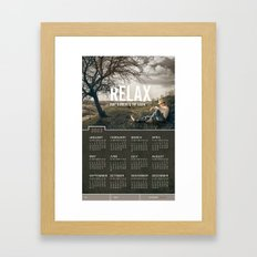 Relax 2013 Calendar  Framed Art Print