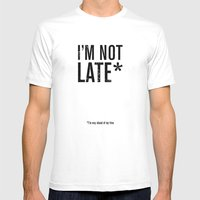 Late* Mens Fitted Tee White SMALL