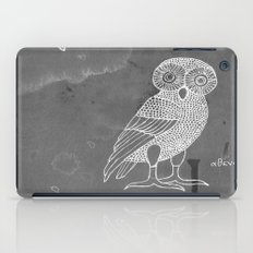 ATHENA'S OWL IN GREY BACKGROUND  iPad Case