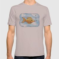 Kisses From Fannie Finn Mens Fitted Tee Cinder SMALL