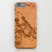 iPhone & iPod Case featuring sand bicycle by angelenka