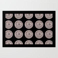 Swirly Dot Pattern Art Print