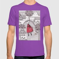 The Old Village Mens Fitted Tee Ultraviolet SMALL