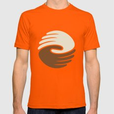 Peace SMALL Orange Mens Fitted Tee