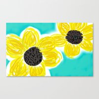 Canvas Print featuring Sunflowers by California English