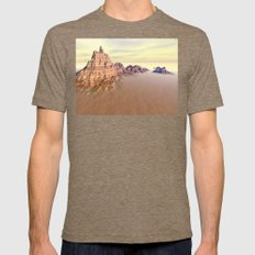 Grand Mountain Range Mens Fitted Tee Tri-Coffee SMALL