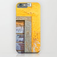 Ten on weathered yellow wall iPhone 6 Slim Case