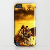 Tiger And Sunset iPod touch Slim Case